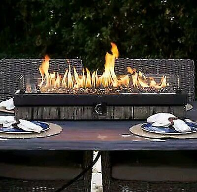 Northwoods Outdoor Tabletop Gas Fire Pit Patio Table Top Propane