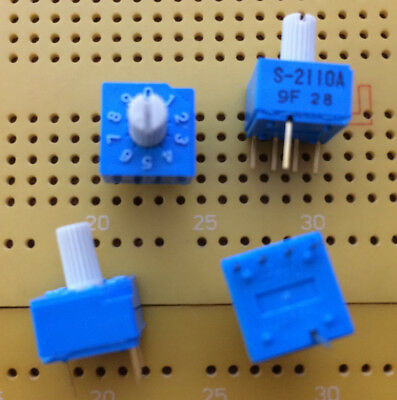 10 Position Rotary DIP Switch 4 Way BCD S-2110A Gold Plated Contacts Multi Qty