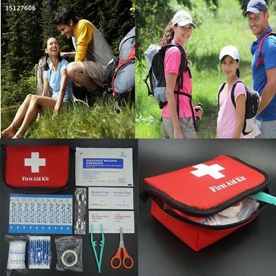 11pcs Family First Aid Kit Set Emergency Bag Case Travel Camping Medical 9A2C