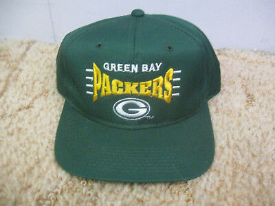 a7e53e85fb4 Vintage 1990 s Drew Pearson Green Bay Packers Embroidered Logo Snapback Hat