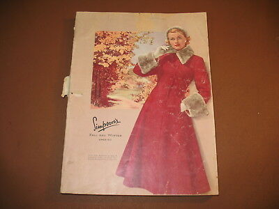 1949-50 Simpson's Fall & Winter Catalog Canadian Simpson's Company