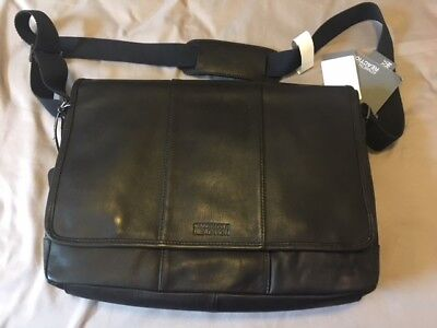 4c70dc24a6b1 Kenneth Cole Reaction Mess-ed Call - Colombian Leather Messenger Bag Black