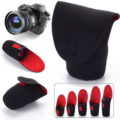Soft Waterproof Lens Pouch Bag Case Protector For Canon Nikon Sony DSLR Camera