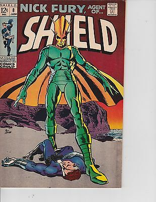 Nick Fury Agent of SHIELD  #8 (VF/NM  9.0) Jan-1969,  Marvel