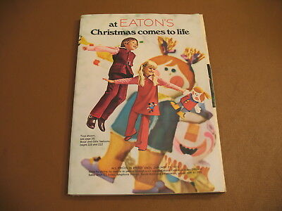 1972 Eaton's Department Stores Christmas Catalog With Sleeve  ,toys, Clothes Etc