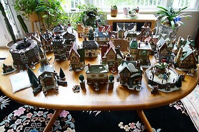 Large Collection Department 56 Dickens Village Christmas Decor: 26 Buildings +++