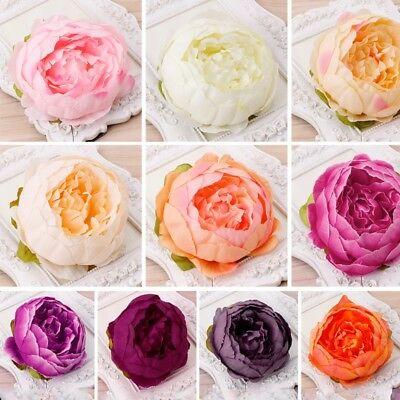 1Pc Artificial Peony Flower Heads DIY Craft Garden Home Wedding Party Decoration