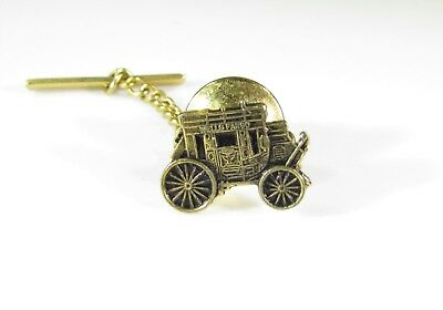 Gold Tone Pin with Wells Fargo Bank Stagecoach Logo