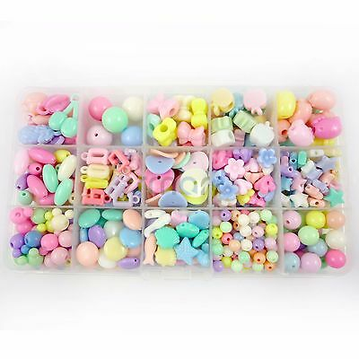 15 Designs Mixed Spring Colors Beads Kit For Kids Set Fun Jewellry Making Craft