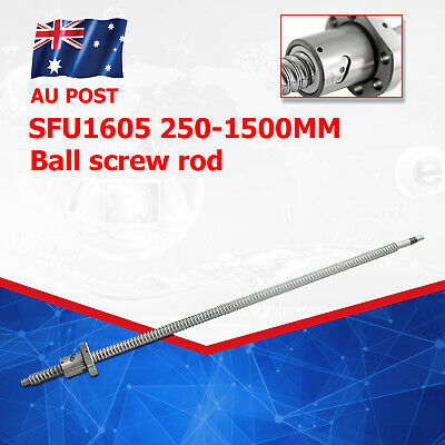 Ballscrew SFU1605 RM1605 L250-1550mm End Machining Ball Screw W/ Ballnut For CNC