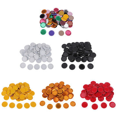 100pcs 25mm Colored Round Linerless Flat Bottle Caps For DIY Hairbow Craft