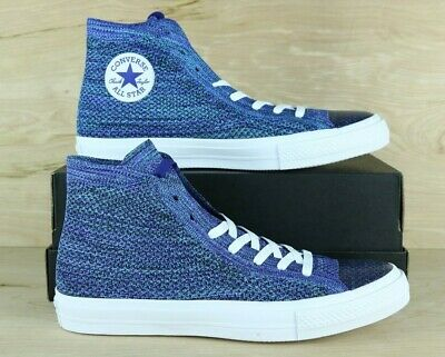 896f1213205927 Converse 157507C Chuck Taylor All Star HI Flyknit Mens Shoes Blue   Multi  Size