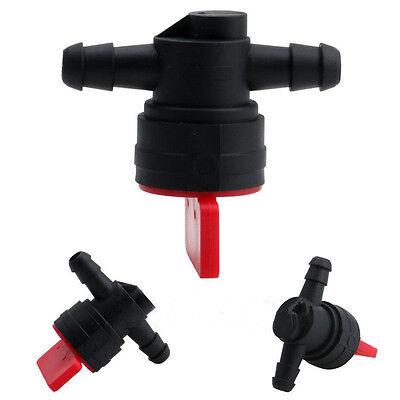 "1/4"" InLine Straight Fuel Gas Cut-Off / Shut-Off Valve Petcock Motorcycle  Gls*"