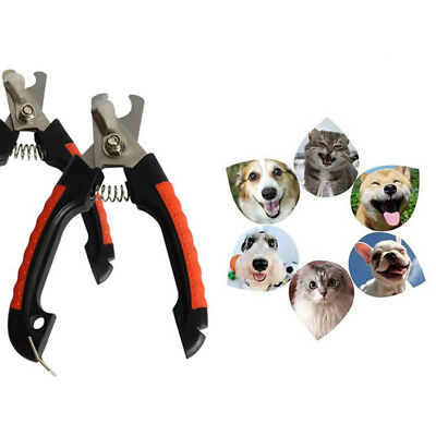 2Pcs Pet Animal Dog Cat Bird Grooming Nail Clipper Scissor Trimmer Safety Guard