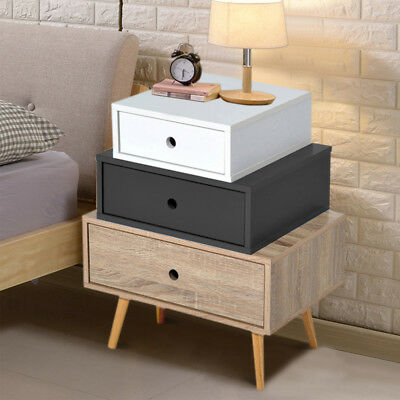 Bedside Nightstand Side Table Chest Cabinet Unit With Oak Legs Bedroom Furniture