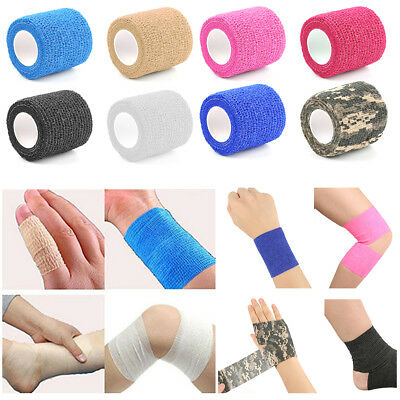 2018 Self Adhesive Elastic Bandage Gauze Tape First Aid Health Care Treatment ZS
