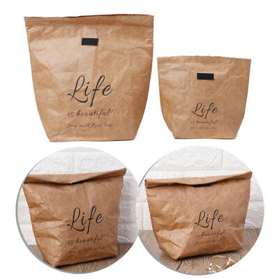 Kraft Paper Snack Insulated Thermal Lunch Bags Reusable Merchandise Grocery Bag