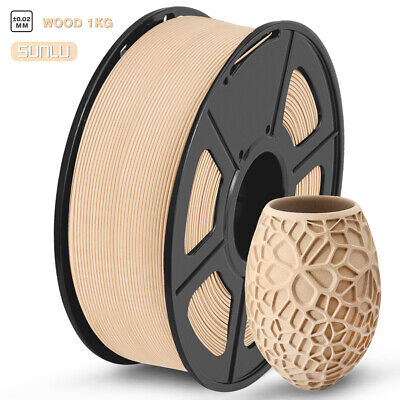SUNLU 3D Printer Wood Filament 1.75mm 1KG/Roll 2.2LB Wooden Effects Similar With