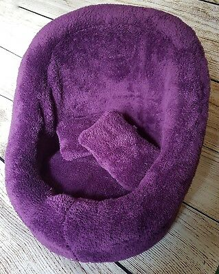 Newborn baby posing pod chair photo prop with washable changeable cover Purple