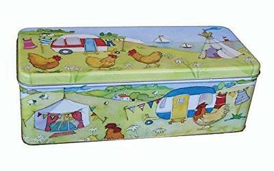 GLAMPING - CARAVAN/CAMPING - Emma Ball Colourful Cream Cracker/Biscuit Tin