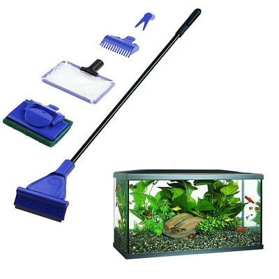 5 In 1 Aquarium Cleaning Tools Kit Plastic Rod Cleaning Tools Set For Fish Tank