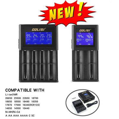 LCD Smart Rechargeable Battery Charger For Li-ion 18650 AAA/AA Ni-Cd/Mh AU POST