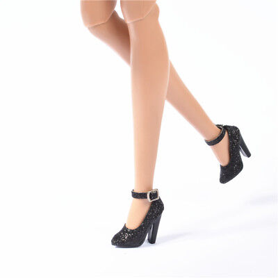 Shoes for FR2 Nu Face 2 doll Jason wu integrity toys flash black thick heels