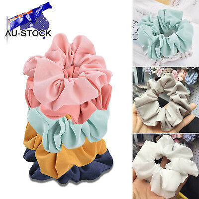 Women Headwear Candy Colors Hair Ties Band Ropes Ring Scrunchie Ponytail Holder