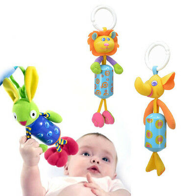 Newborn Bed Bell Rattle Toys Mobile Baby Toys 0 - 12 Months Cartoon Animal 6A
