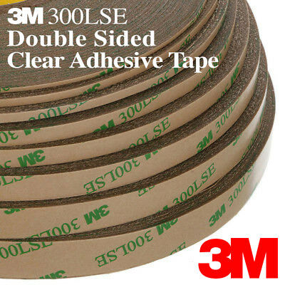 2mm 5/64in Clear Sticky Double Sided Adhesive Tape 3M 300LSE Cell Phone Repair
