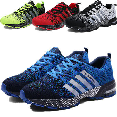 Trainers Mens Air Cushion Sneakers Lace up Casual Breathable Gym Shoes Size 5-13