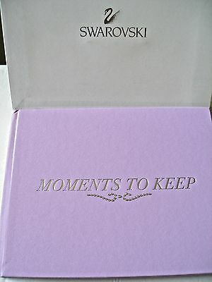 """SWAROVSKI """"Moments to Keep"""" Orchid Crystal Studded Mother's Keepsake Memory Book"""