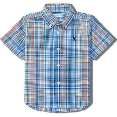 Ralph Lauren Polo small pony authentic baby boys checked cotton shirt 12 - 24m