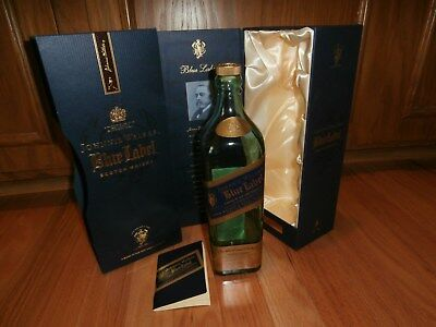 Johnnie Walker Blue Label Scotch Whiskey Bottle (empty), Satin Lined Box