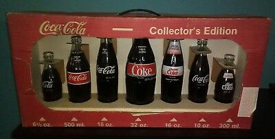 Coca Cola collectors edition glass bottles set. Old coke rare lot 1 Pick up only