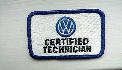VW Volkswagen Certified Technician Patch For Shirt