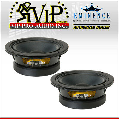 """Pair Eminence Beta-6A 6-1//2/"""" High Power Midbass Woofer 8ohm 94dB Replacement"""