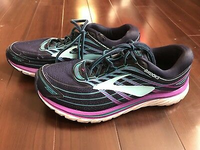 0b6b5453a665d Womens Brooks Glycerin 15 Running Shoes Size 10.5 (D) Us Navy Blue Purple  White