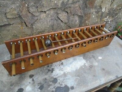 Antique/vintage Oak And Brass Xylophone