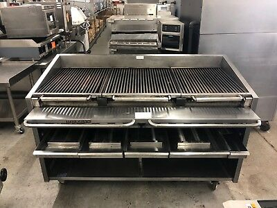 "Magikitch'n FM-RMB-660 - 60"" Floor Mount Radiant Gas Charbroiler - Refurbished"