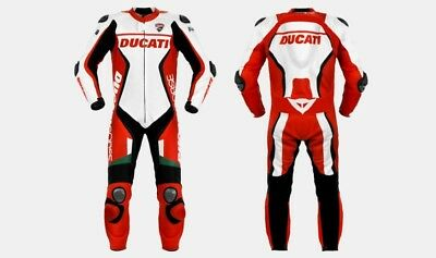 Ducati Replica Motorbike Leather suit for motocycle ride race, tailor Made