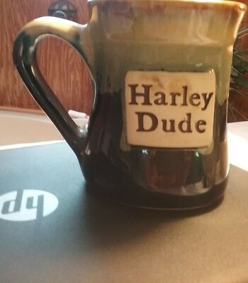 Blue Harley Dude Coffee Cup
