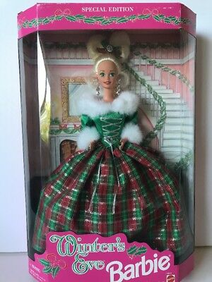 1994 Vintage Christmas Winters Eve Special Edition Barbie Stock No.13613