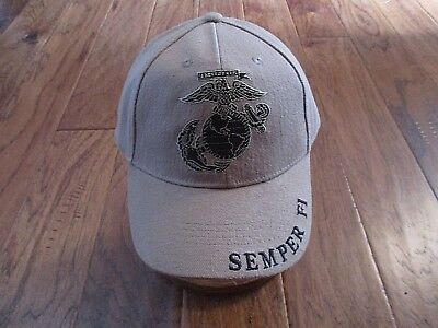 U.S Military Marine Corps Semper Fi Embroidered USMC Licensed Baseball Hat Cap