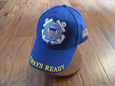 United States Coast Guard Always Ready Hat Ball Cap Uscg Semper Paratus