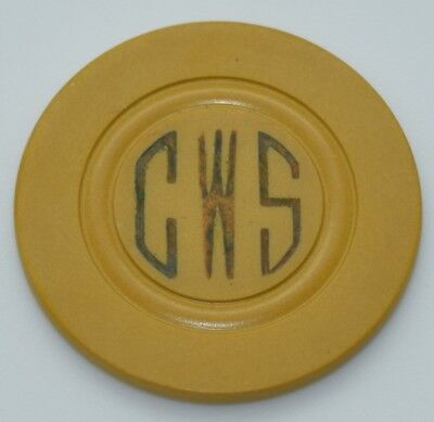 CWS Card Room Casino Chip Raised Circle Mold Made by G.H. Harris Co.