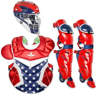 All Star System 7 Axis USA 10-12 Youth Catcher's Gear Set - Stars and Stripes