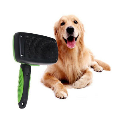 Pet Dog Grooming Tool Self Hair Fur Cleaning Slicker Brush Neat Comb Shedding