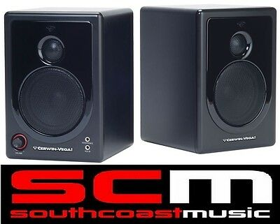 CERWIN VEGA XD3 2 Way ACTIVE STUDIO DESKTOP SPEAKER MONITORS PAIR NEW w WARRANTY