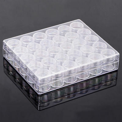 Clear Container Jars Jewelry Storage Rectangle Round Plastic Portable Box 30